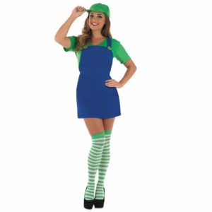 Womens Green Plumber Costume